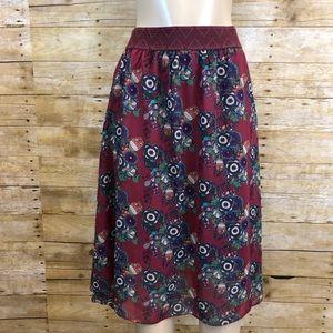 LULAROE   Printed Lola Skirt Small